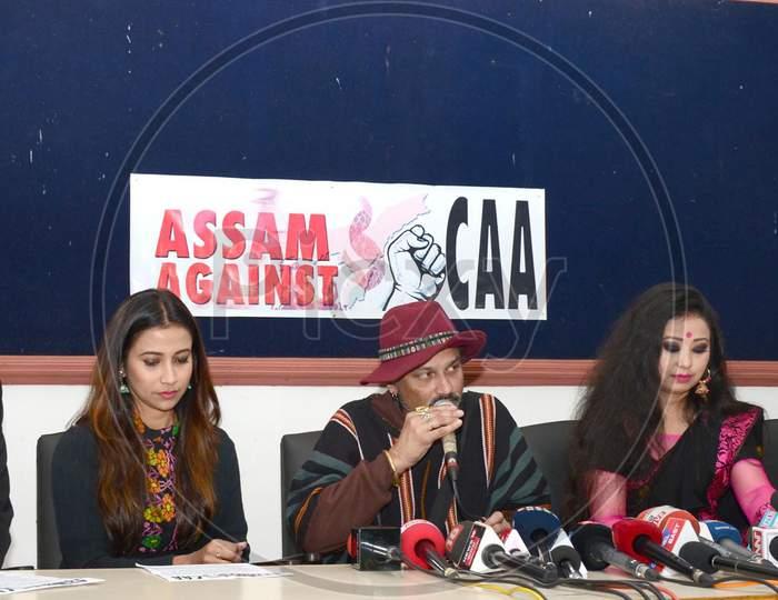 Zubeen Garg  Pressmeet in Guwahati