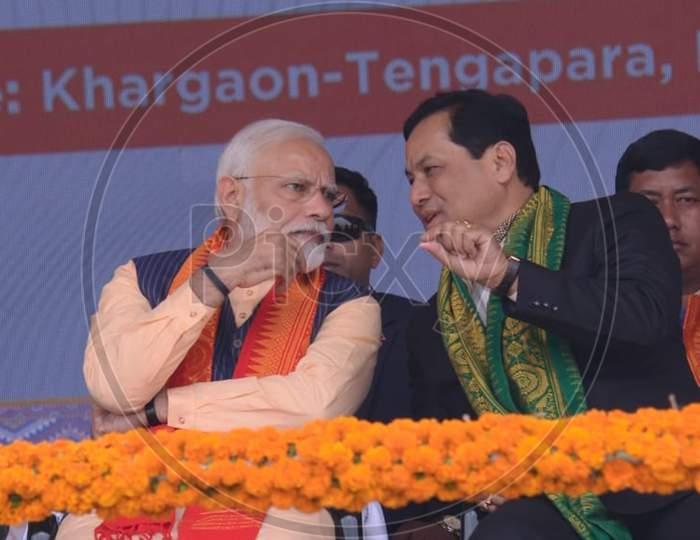 Prime minister Narendra Modi visit Assam