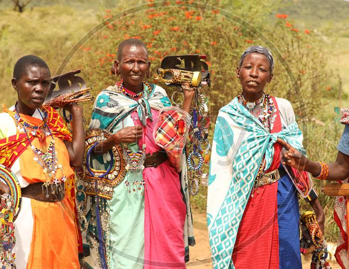 A Group of African Tribal Women