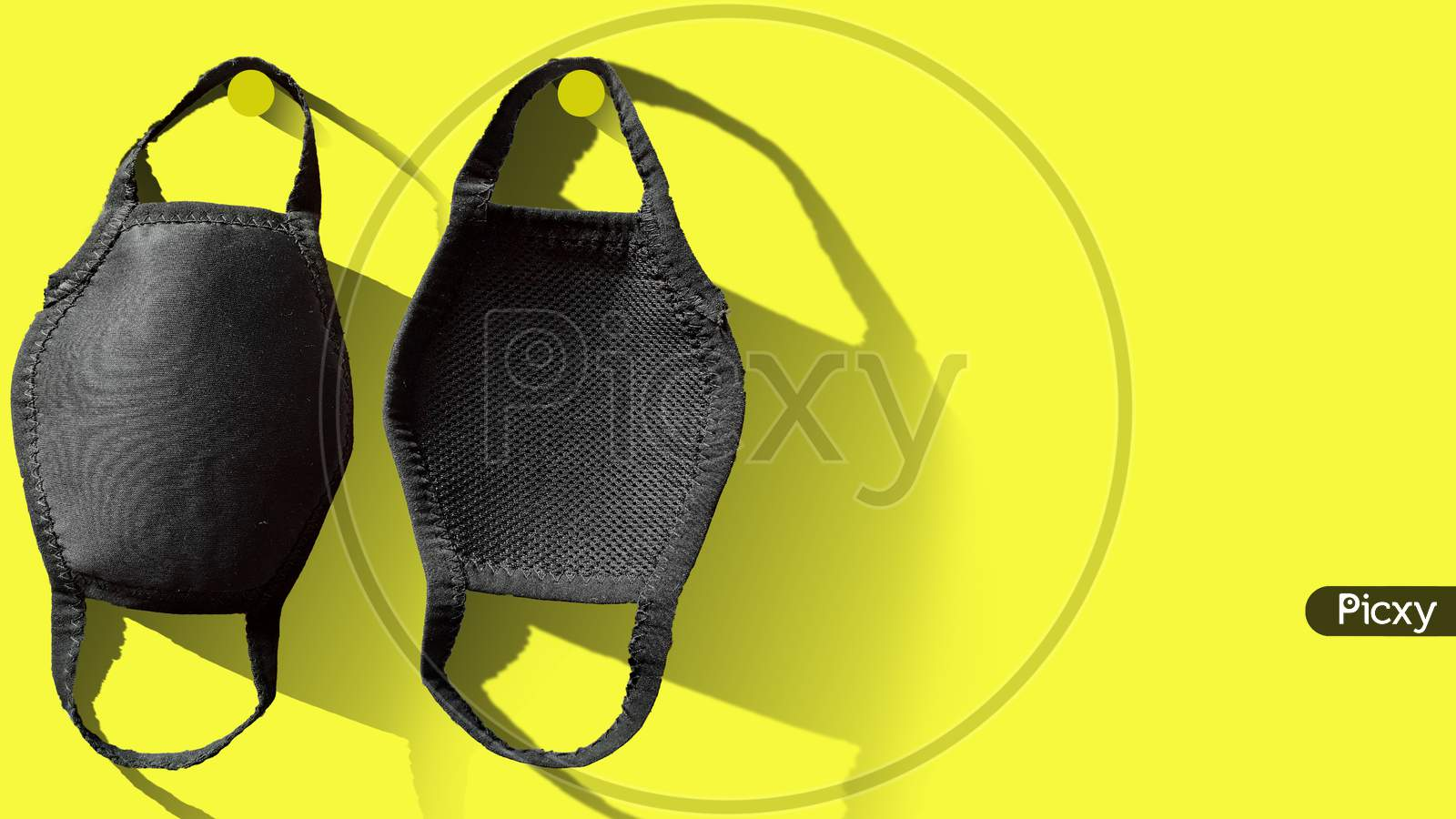 Black sanitized mask to be safe from COVID-19 or Corona Virus