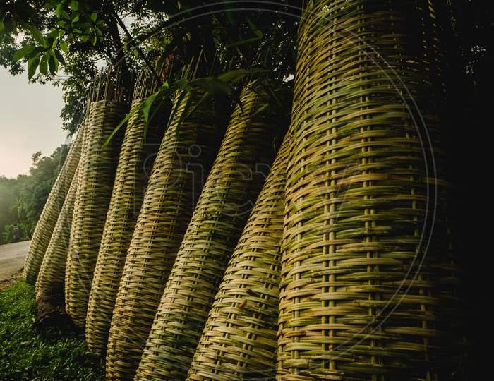 Handmade bamboo baskets