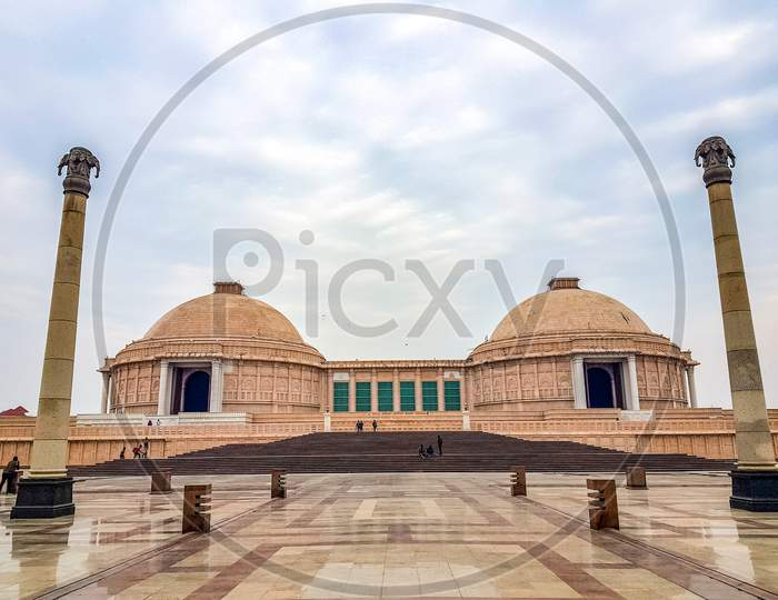 December 15.2019. The Ambedkar Memorial Park Of Lucknow. It Is A Massive Area Of Stonework In The City Of Lucknow And A Popular Tourist Attraction.
