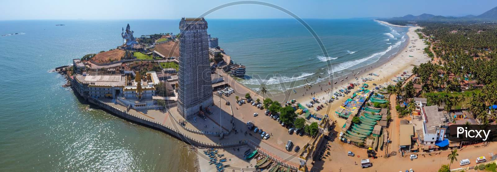 Panaromic View Of Murudeshwar