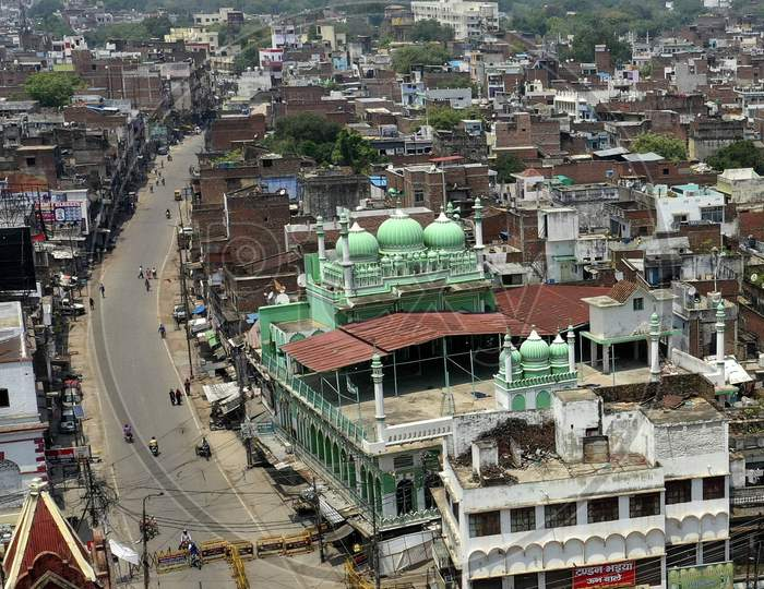 A View Of Old City during Nationwide Lockdown Amidst Coronavirus or COVID-19 Outbreak In Prayagraj