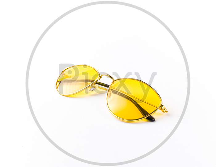 Shades or Goggles  On White Isolated Background
