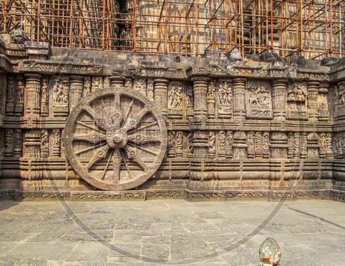 Stone carving at Konark Sun temple