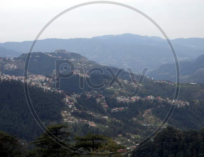 Picturesque view of Shimla