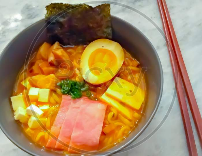 Traditional Spicy Asian Food-Ramen
