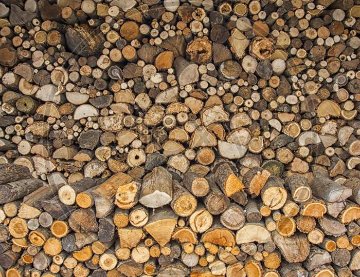 Stacked, Chopped Wood
