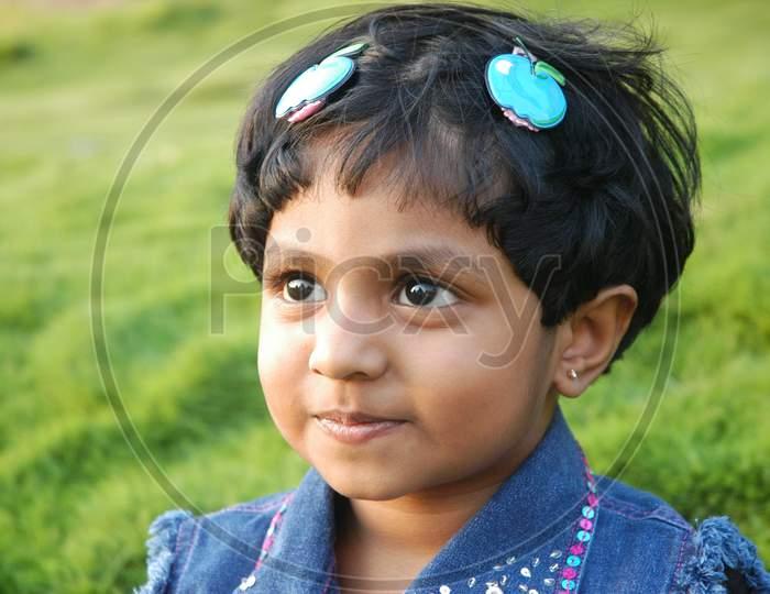 Indian Young Girl Child closeup