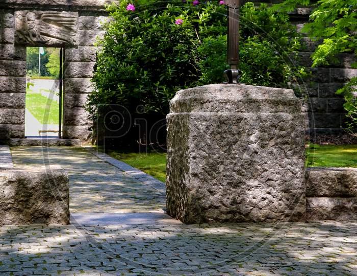 Cross In Front Of A German War Cemetery