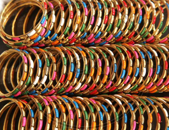 Selective Focus on Bangles