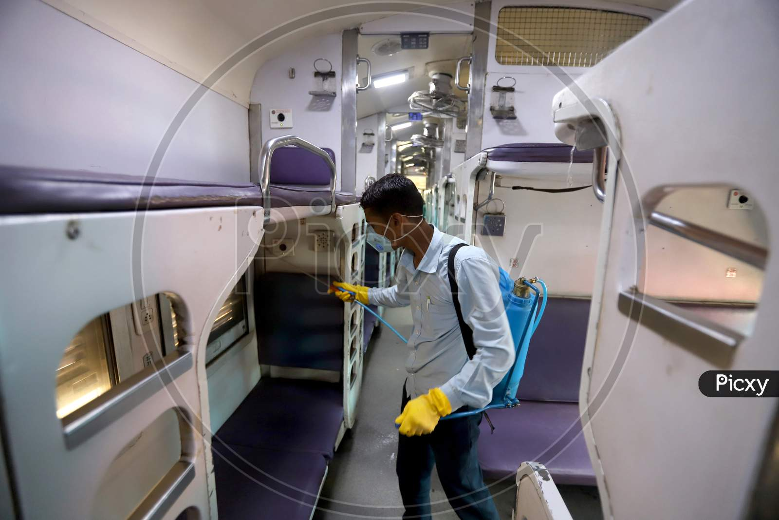 Delhi Metro Started Sanitation Drives As A Preventive Measure Against The Covid-19 Novel Coronavirus Walks Out Of A Metro Station In New Delhi On March 13, 2020.
