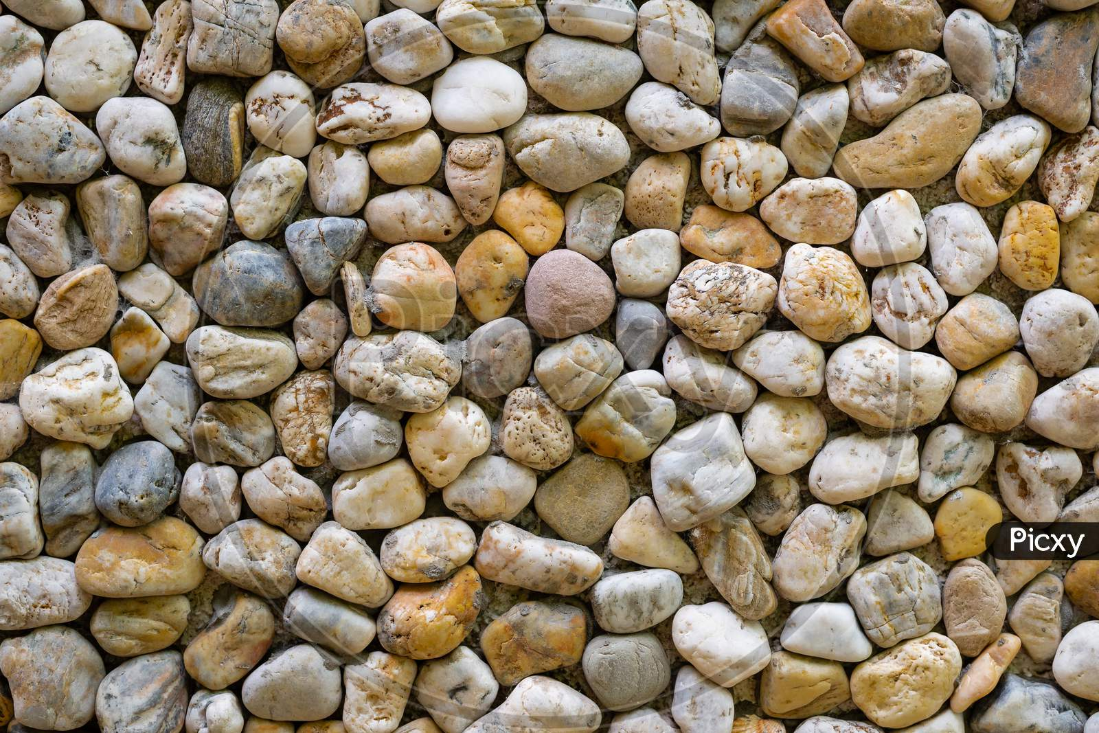 Texture Of A Wall Made Of Sea Stones