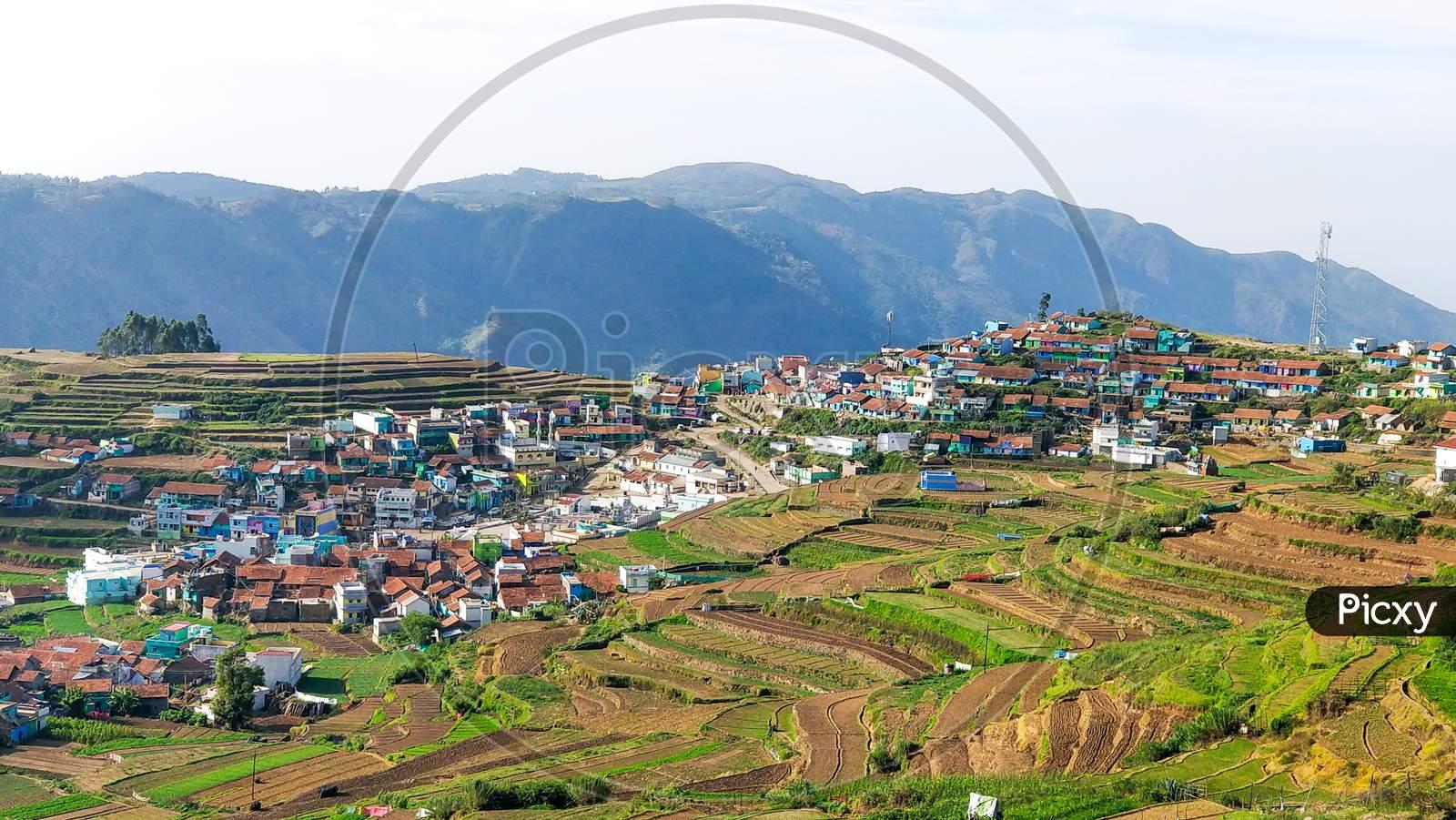 A Village On Terraced Fields