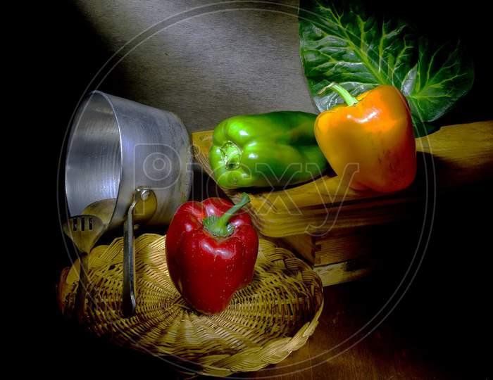 Capsicum, The Pepper, Is A Genus Of Flowering Plants In The Nightshade Family Solanaceae