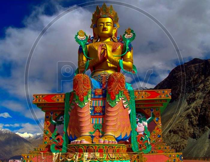 The Statue Of Buddha At Tibet