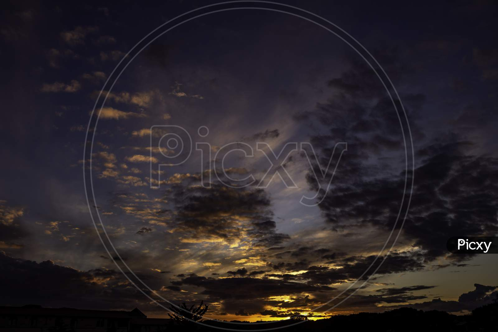 Beautiful Clouds During Sunset. Resource For Designers.