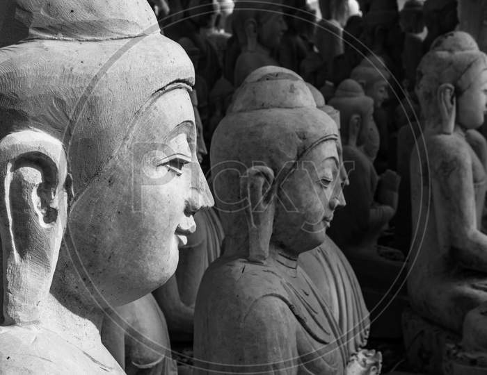 A collection of statues