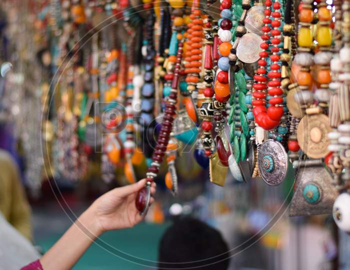 Girl buying fashion Accessories