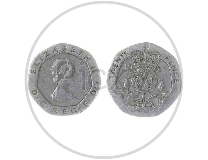 Currency coin on White Background