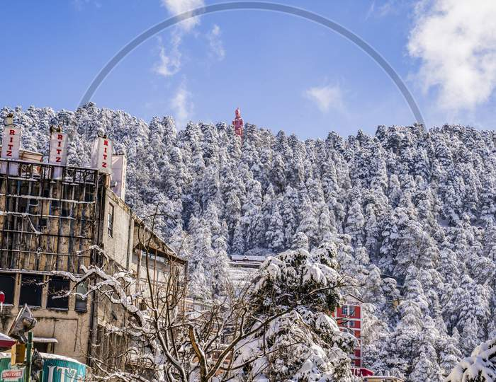 A Beautiful View of Shimla After Snowfall