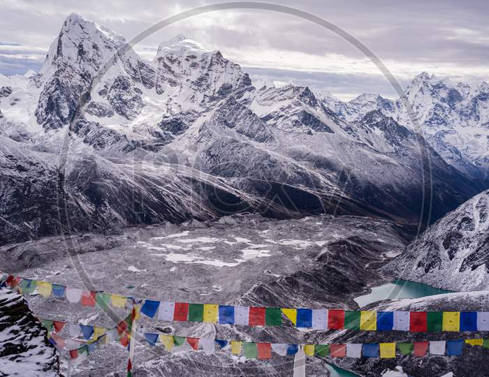 View from Gokyo ri in Everest region of Nepal
