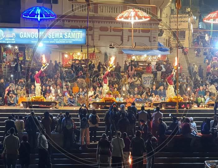 A visual treat Ganga Aarti of Varanasi