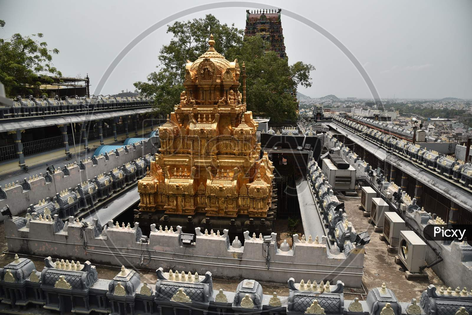 A View Of Kanaka Durga Temple After It Reopened With Certain Restrictions, During The Fifth Phase Of Coronavirus Lockdown In Vijayawada.