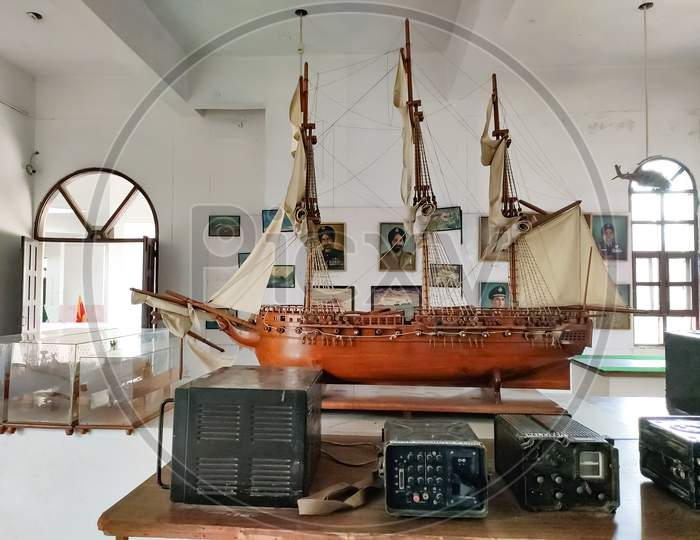 A battleship made by wood,ludhiana,india on 2019:Maharaja Ranjit Singh War Museum established 1999