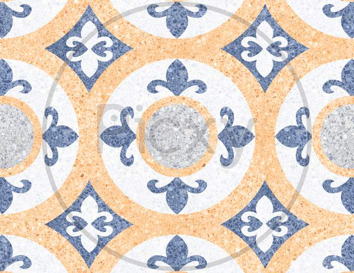 Yellow Marble Geometric Pattern Shape Floor And Wall Mosaic Decor Tile.