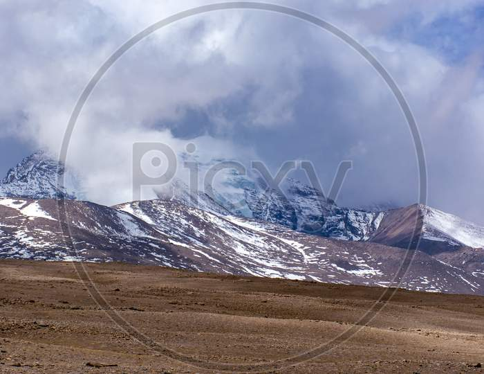 Mountain covered by Snow A Beautiful landscape in Eastern Himalaya North Sikkim India