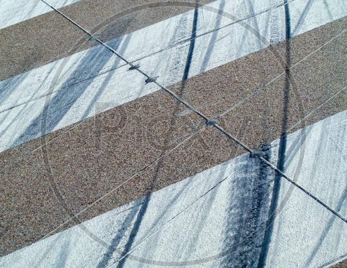 Runway Tyre Marks