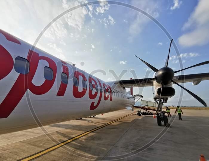 Spicejet Bombardier Flight