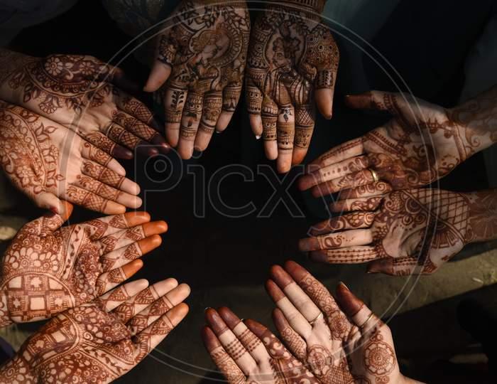 beautiful mehndi design Indian traditional  function.