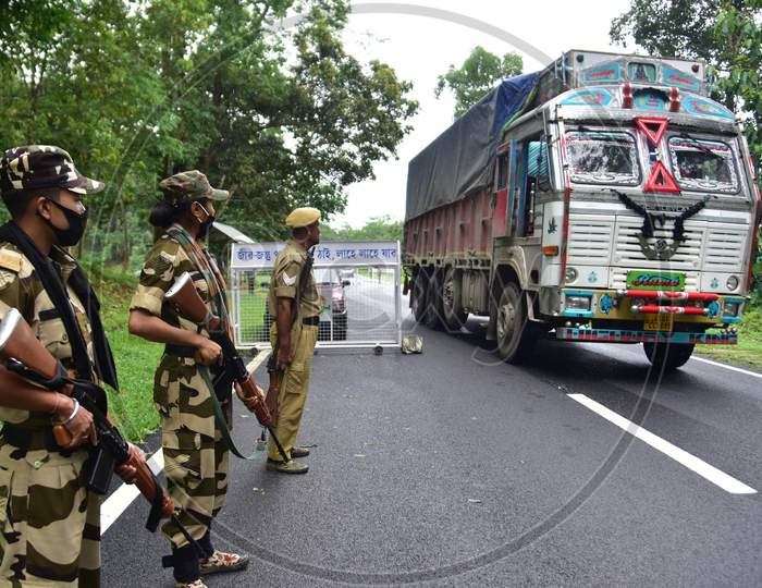 Highway To Move To Highlands Following Floods At The Kaziranga National Park In Assam on June 26,2020