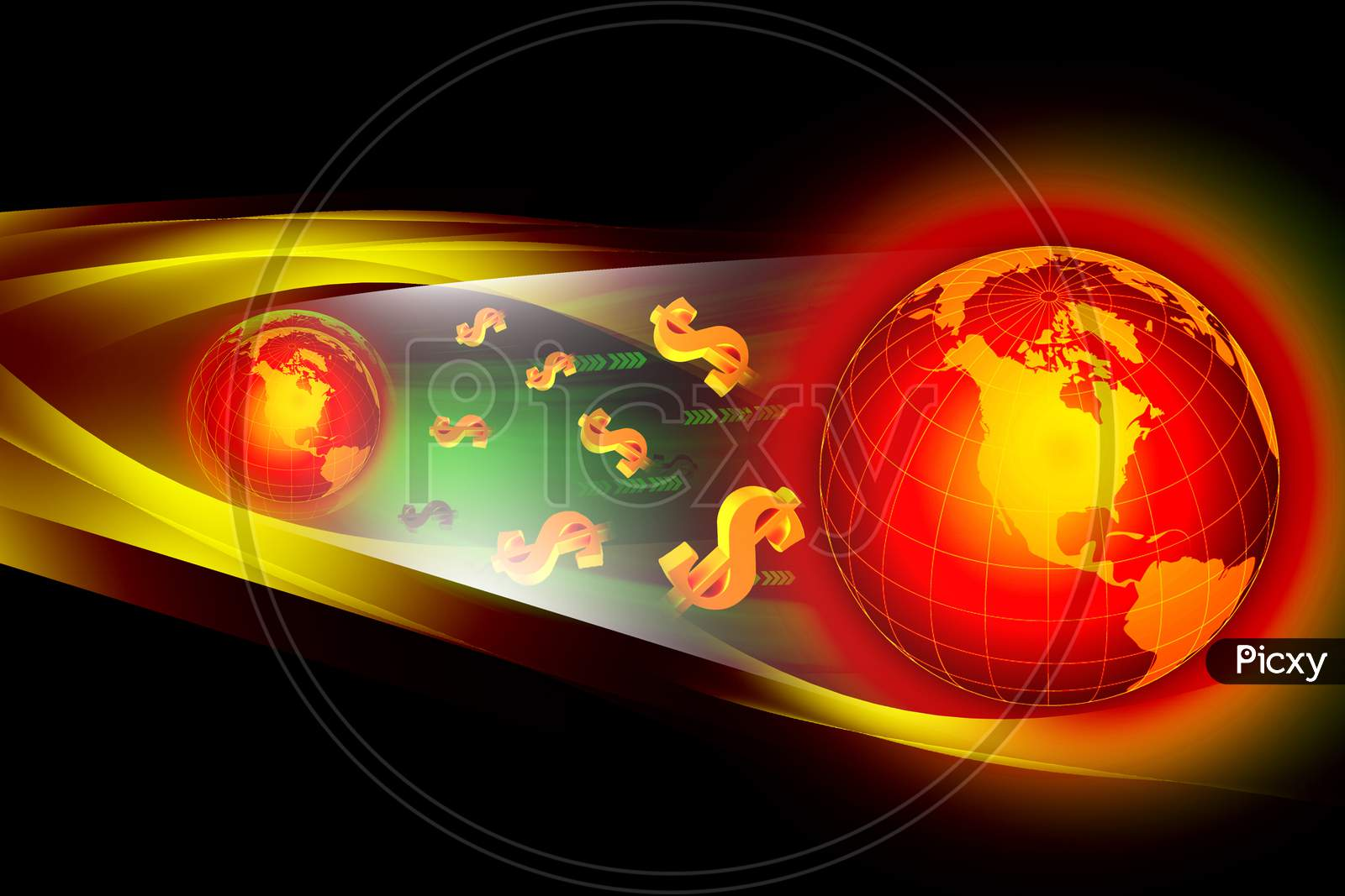 3D Illustration Of Earth In Color Background