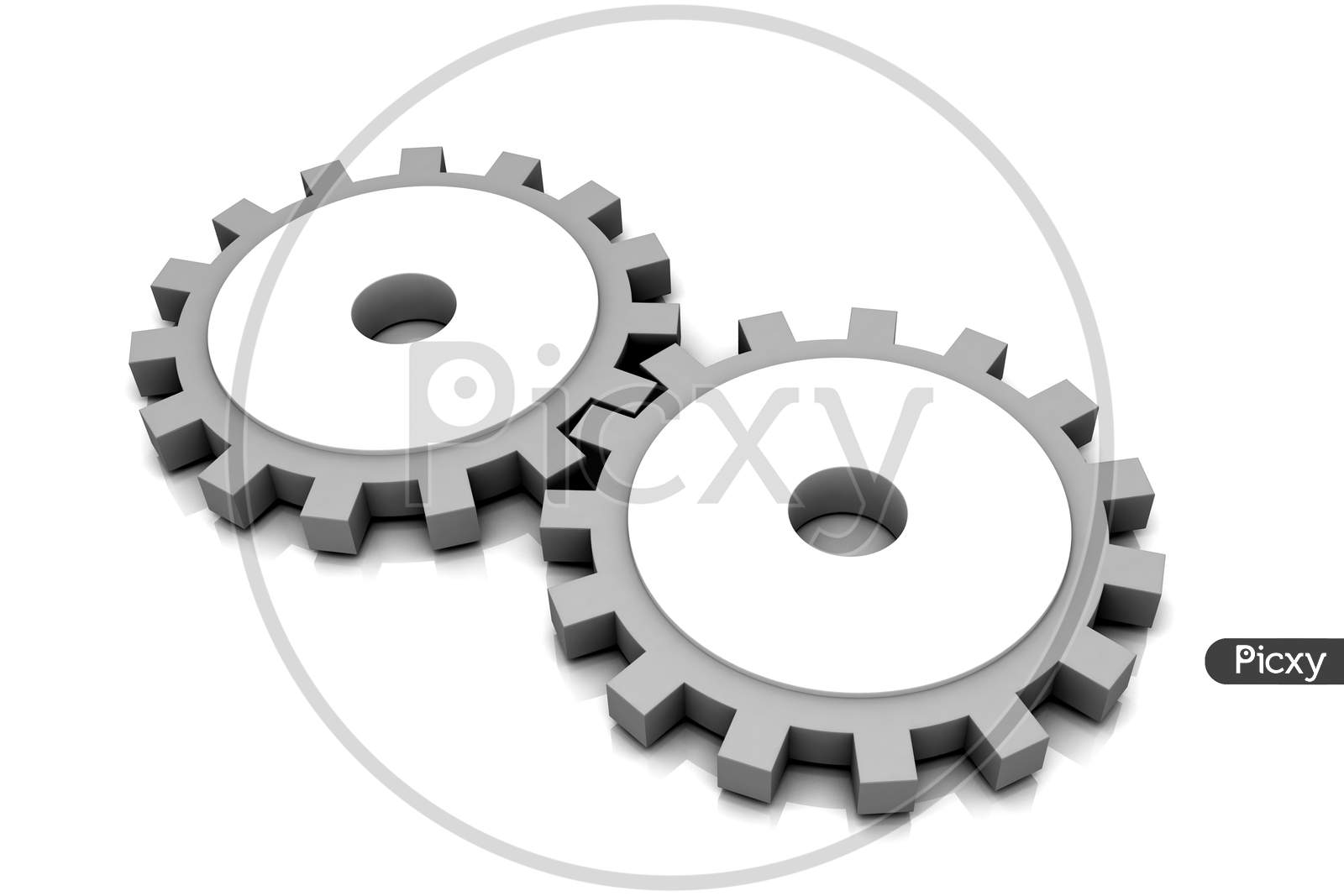 3D Rendering Of  Multi Use Gear In White Background