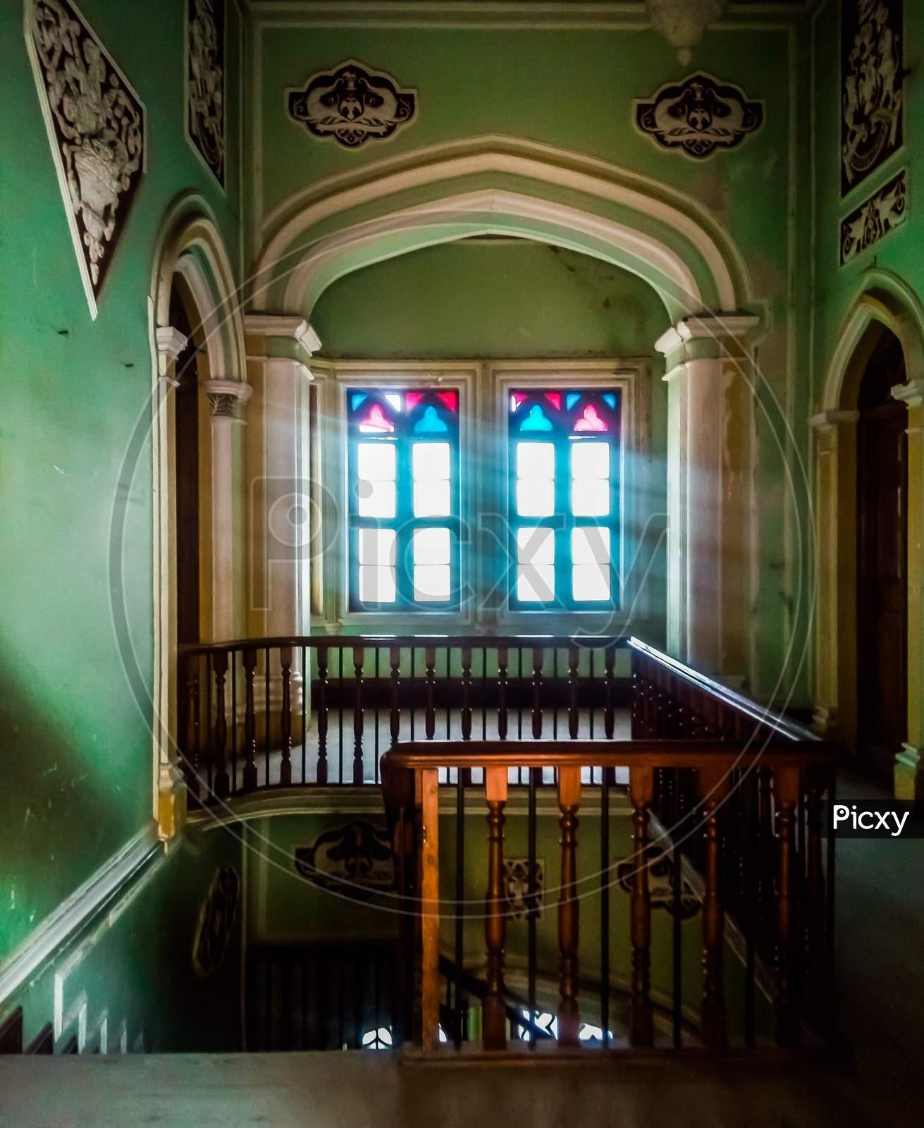 The Beautiful Interior Design Of Bangalore Palace In Bangalore Karnataka India.