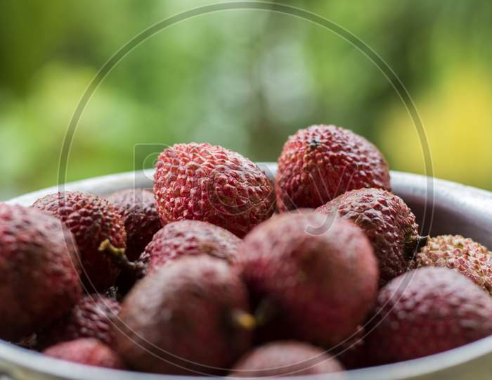 Red Organic Litchis