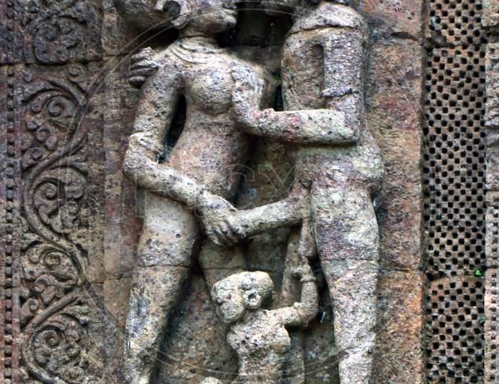 Historic Architecture of Konark Sun Hindu temple in Konark, Odisha