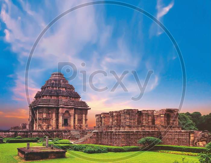 India Sun Temple, Konark, Odisha. A Masterpiece Of Odishan Temple Architecture And A World Heritage Monument. A Repository Of Art Forms And Culmination Of Kalinga School Of Temple Architecture.