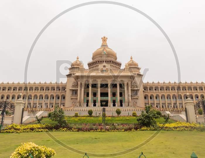 Vidhana Soudha Is The Seat Of Karnataka'S Legislative Assembly Located In Bengaluru, India.