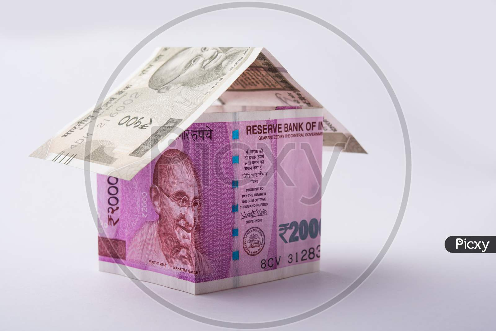 3D Model house using Indian currency