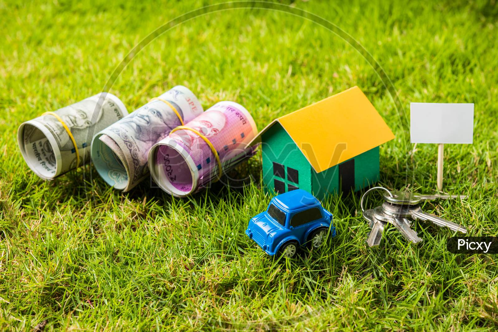 Indian Real Estate, Automobile Finance business concept