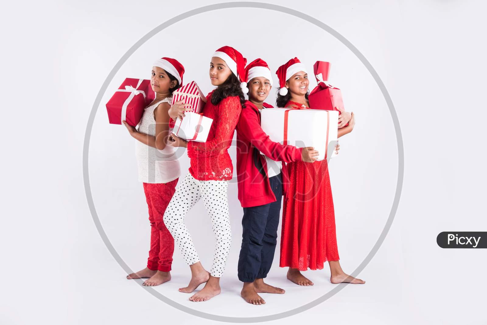Indian Kids celebrating Christmas / X-mas