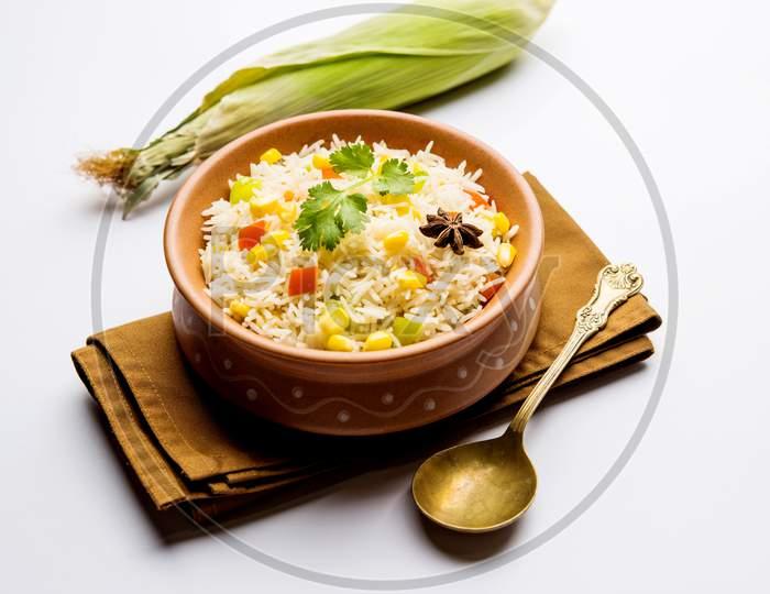 Corn Pilaf or Pulav