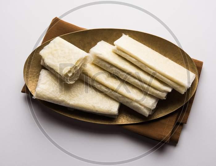 Pootharekulu or paper-thin sweet