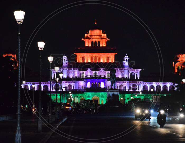 Albert Hall Museum, Beautiful Architecture Of Old Building, Occasion Of Republic Day - Jaipur, Rajasthan, India.