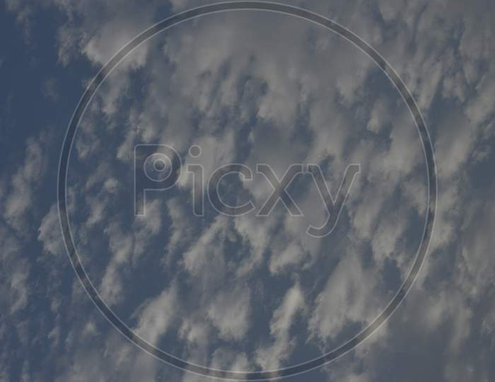 Beautiful Blue Sky With Clouds In Background